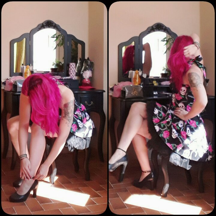 Robe courte Rockabilly Gothique HR London