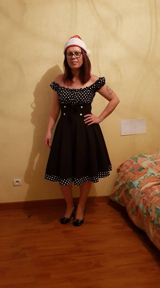"Robe Pin-Up Années 50 Rockabilly Vintage Belsira ""Bella"""