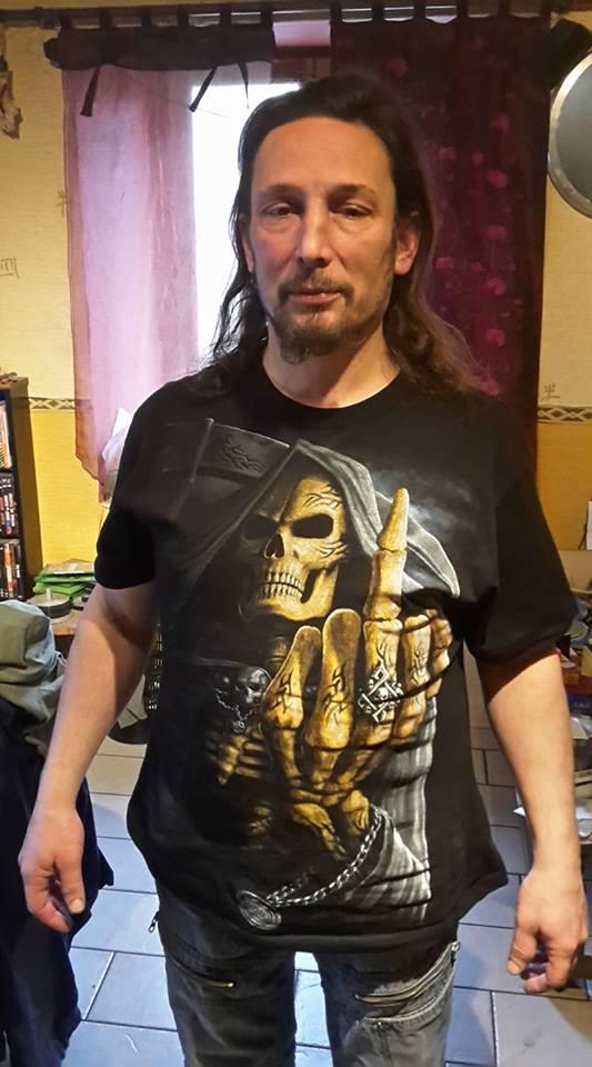 Tee-shirt gothique rock homme Spiral