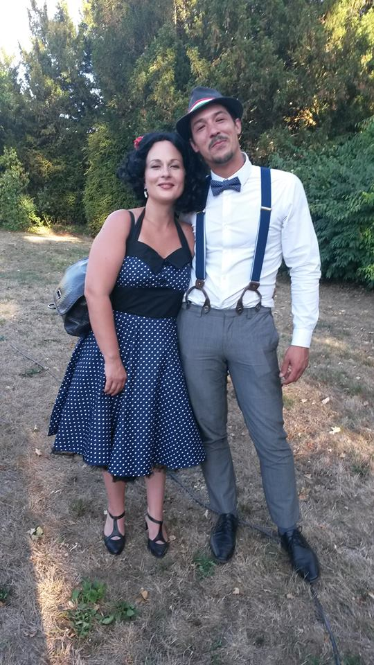 "Jupon rockabilly années 50 Banned 58 cm ""Petticoat Black"""