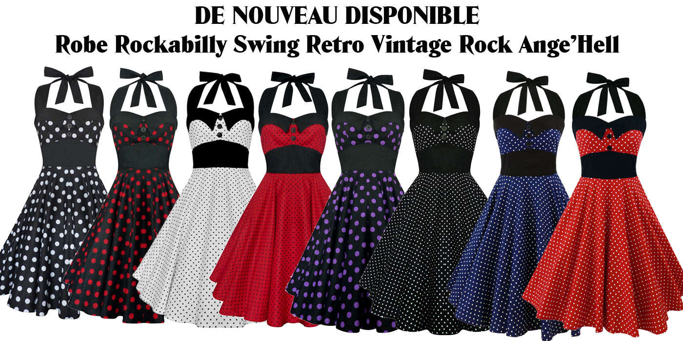 Robes Rockabilly Swing Retro Rock Ange'Hell
