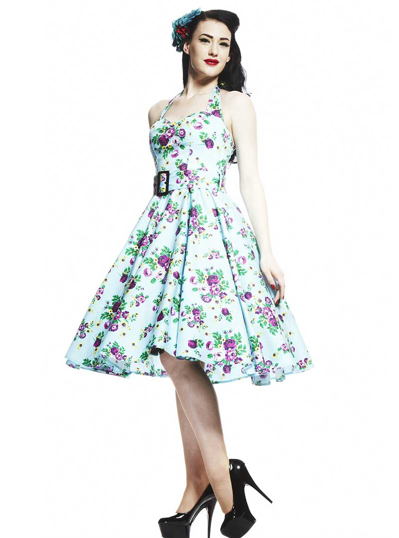 Robe fleurs années 50 rockabilly